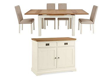 Compton Extending Dining Table with 4 Upholstered Chairs and Sideboard in  on FV
