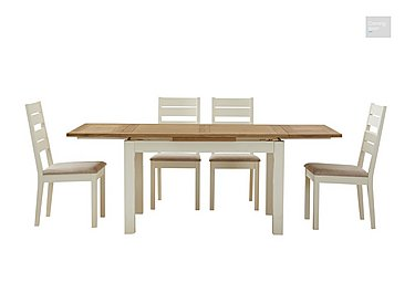 Compton Extending Dining Table and 4 Slatted Chairs  in {$variationvalue}  on FV