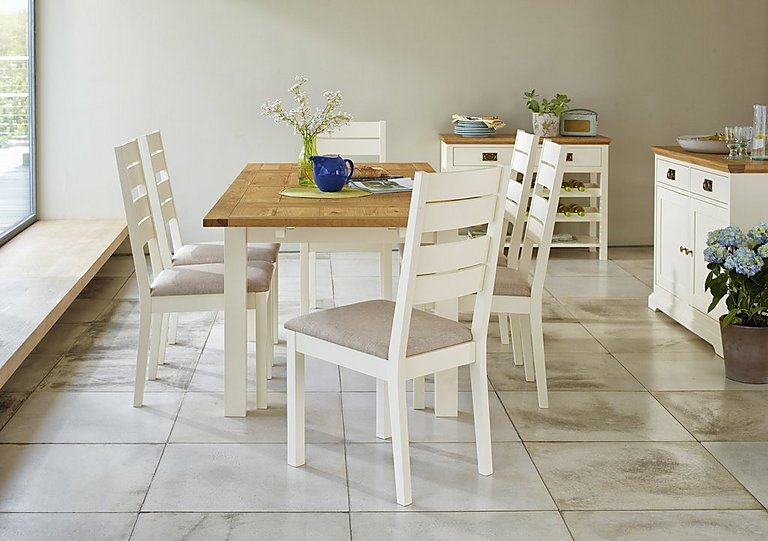 Furniture Village Dining Sets compton extending dining table and 4 slatted back oak chairs