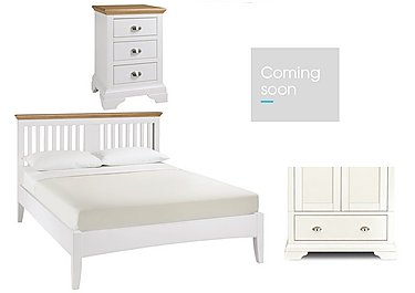 Emily Kingsize Bed Frame with 2 Bedside Chests and Wardrobe in  on FV