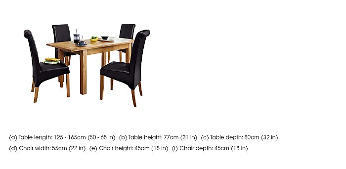 Arlington Dining Table and 4 Chairs in  on Furniture Village