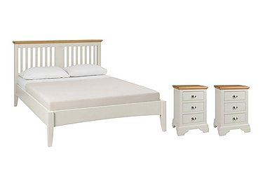 Emily Kingsize Bed Frame and 2 Bedside Chests in  on FV