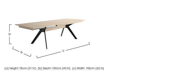 Cascade Extending Dining Table  in {$variationvalue}  on FV