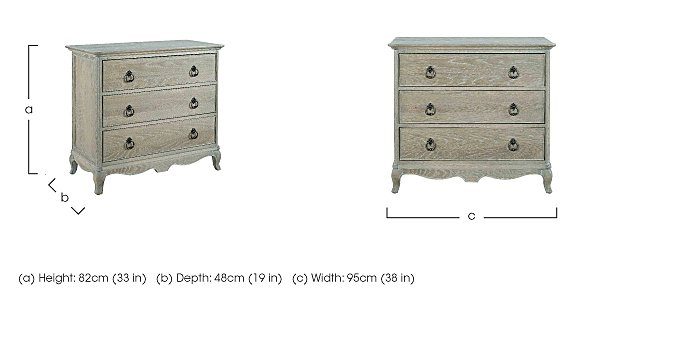 Camille 3 Drawer Oak Chest in  on FV