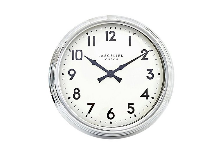 Chrome Wall Clock in  on Furniture Village