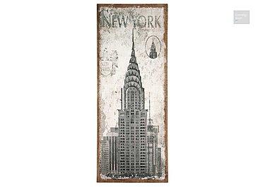 New York Oblong Wall Canvas  in {$variationvalue}  on FV