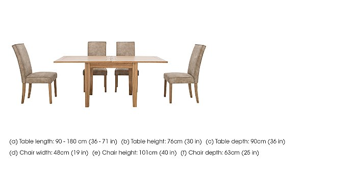 California Flip Top Table and 4 Faux Suede Chairs in  on FV