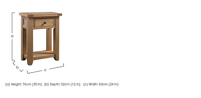 California Small Console Table in  on FV
