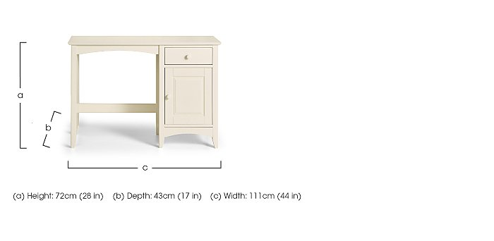 Chilton Stone White Dressing Table in  on FV