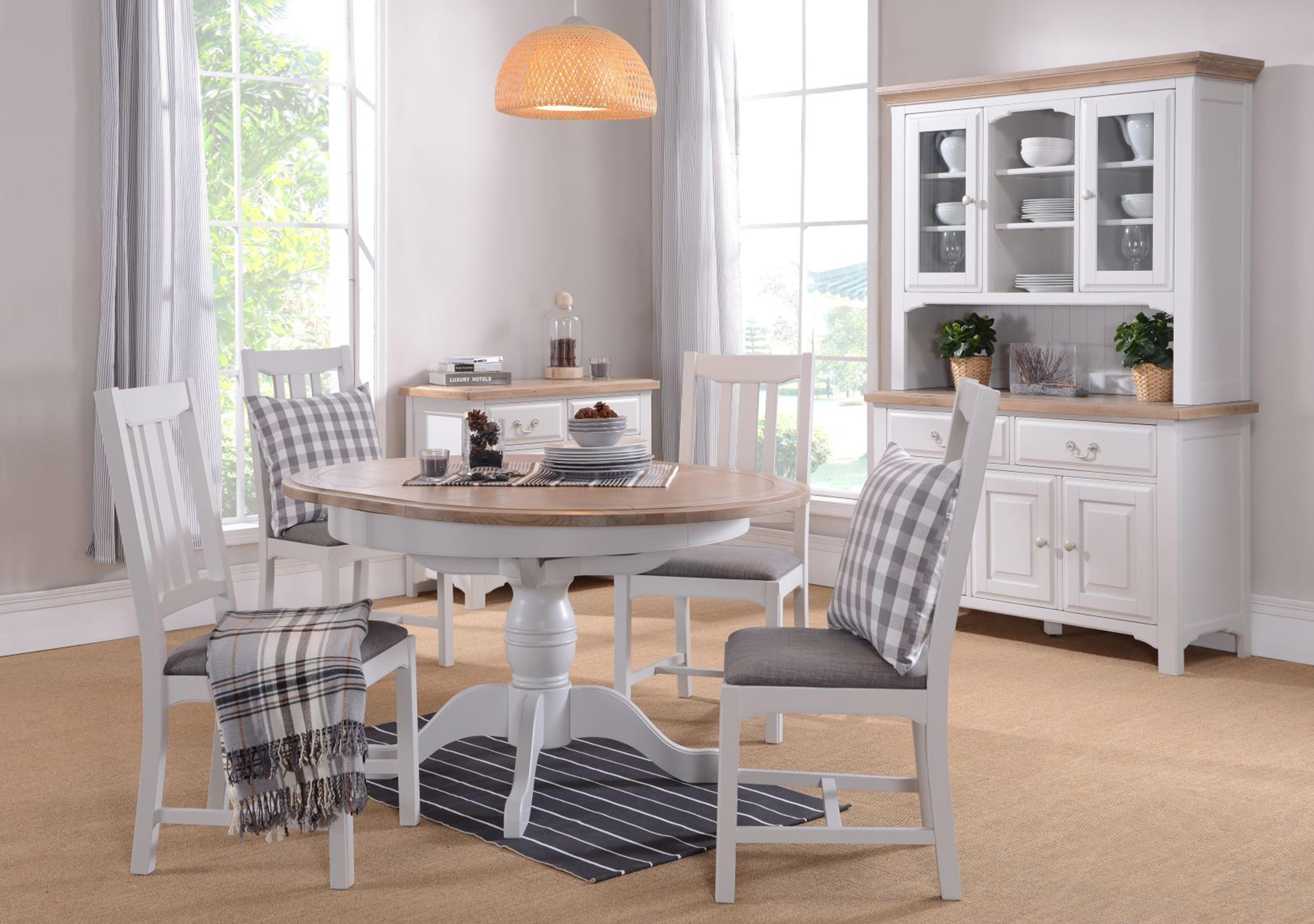 Cobham Round Table and 4 Chairs Furnitureland Furniture Village