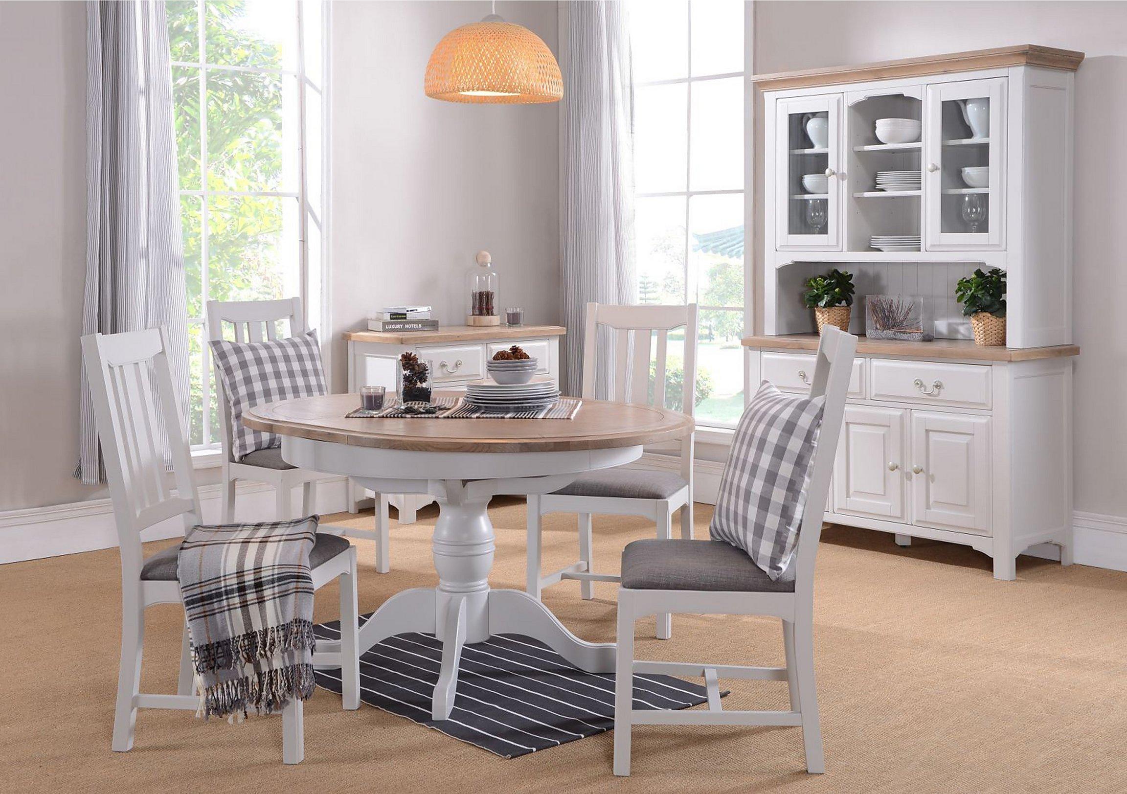 Furnitureland Cobham Round Table And 4 Chairs