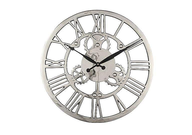 Nickel Cog Wall Clock in  on Furniture Village
