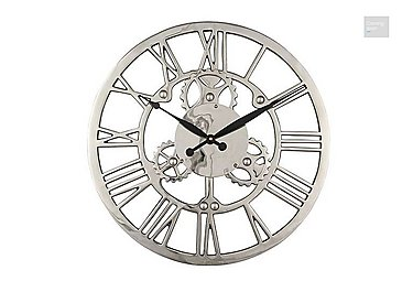 Nickel Cog Wall Clock  in {$variationvalue}  on FV