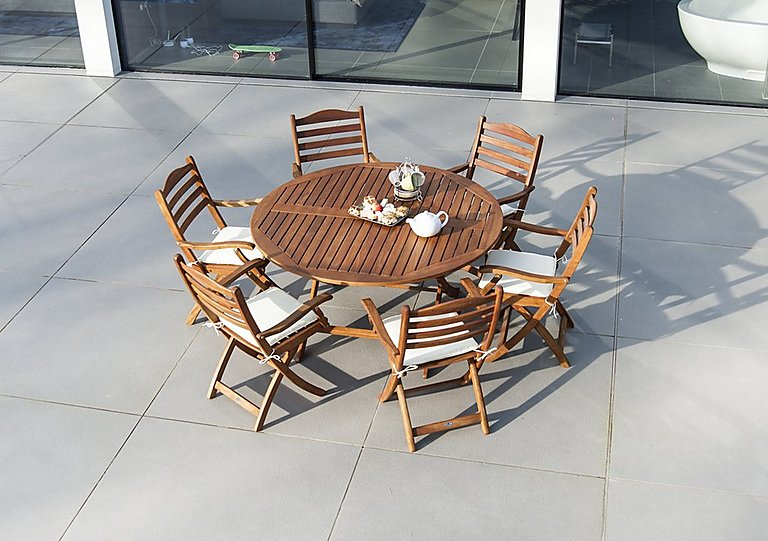 Image of Cornis Round 6 Seater Dining Set