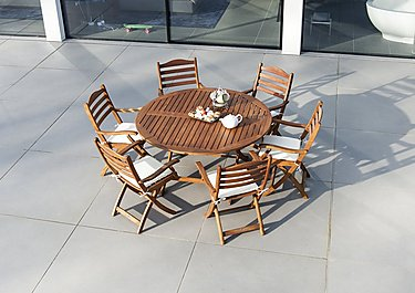 Cornis Round 6 Seater Dining Set in  on FV