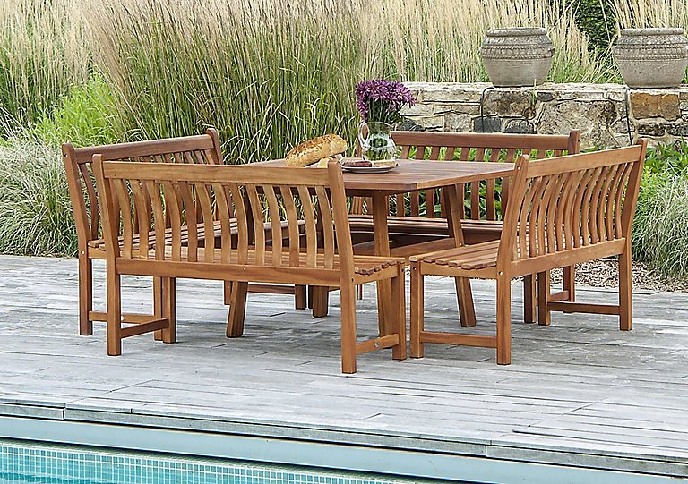 Image of Cornis Bench 8 Seater Dining Set