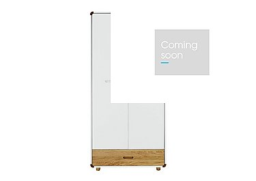 Corvo Children's Double Wardrobe with Drawer in  on FV