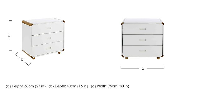Corvo 3 Drawer Chest in  on FV