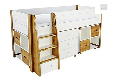 Corvo Midsleeper with 3 Drawer Chest and 2 Storage Cubes  in {$variationvalue}  on FV