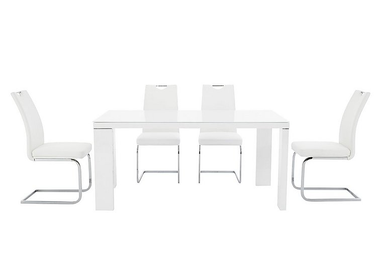 Cosmo Rectangular Table and 4 Chairs