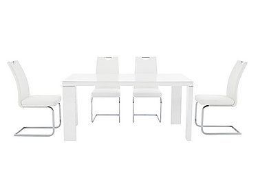 Cosmo Rectangular Table and 4 Chairs in  on FV