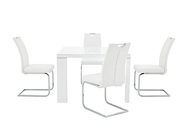Cosmo Square Table and 4 Chairs