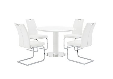 Cosmo Round Table and 4 Chairs