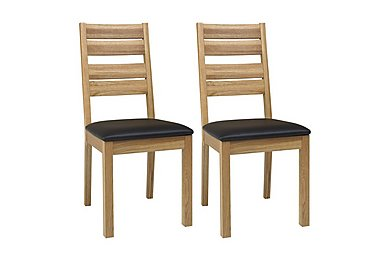 Compton Pair of Slatted Oak Dining Chairs in  on FV