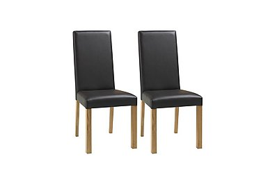 Compton Pair of Oak Upholstered Dining Chairs in  on FV
