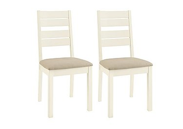 Compton Pair of Slatted Dining Chairs in  on FV