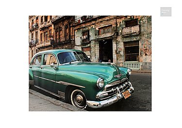 Cuban Car Picture  in {$variationvalue}  on FV
