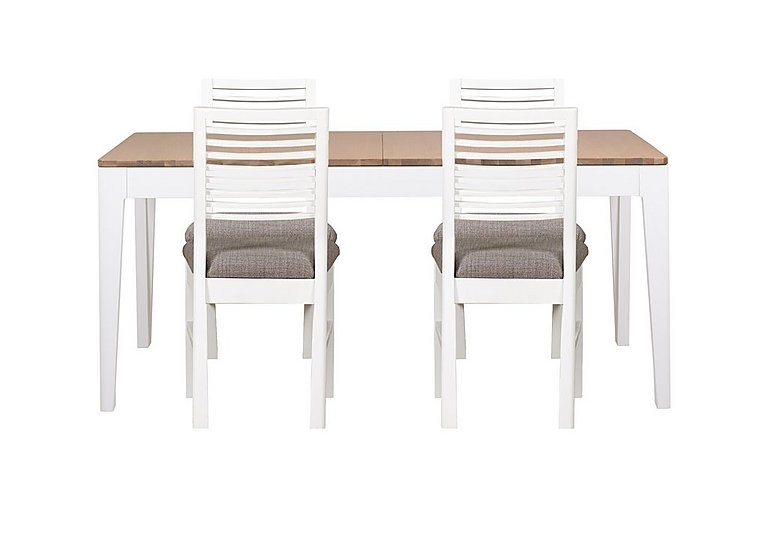 Dixon Small Extending Dining Table with 4 Painted Chairs in  on FV
