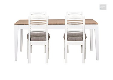 Dixon Small Extending Dining Table with 4 Painted Chairs  in {$variationvalue}  on FV