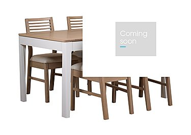 Dixon Small Extending Dining Table with 4 Oak Chairs in  on FV