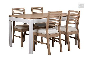 Dixon Small Extending Dining Table with 4 Oak Chairs  in {$variationvalue}  on FV