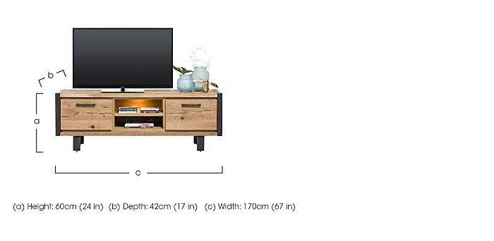 Detroit 2 Cupboard 2 Shelf Lowboard in  on Furniture Village