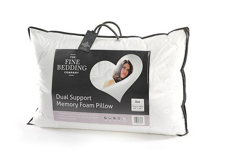 Dual Support Pillow in  on Furniture Village