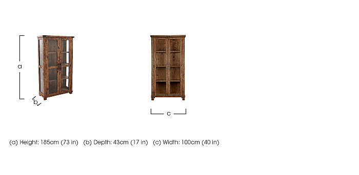 Eco Glazed Display Cabinet