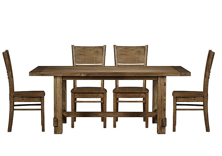 Gathering Table With Timber Top On Farmhouse Dining Seats 8