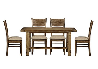 Eco Small Dining Table with 4 Fabric Chairs