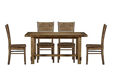 Eco Small Dining Table with 4 Wooden Chairs