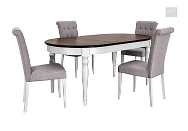 Emily Dining Table and 4 Upholstered Chairs  in {$variationvalue}  on FV