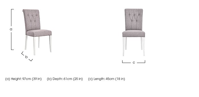 Emily Pair of Upholstered Rollback Chairs  in {$variationvalue}  on FV