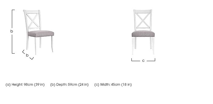 Emily Pair of Crossback Dining Chairs  in {$variationvalue}  on FV