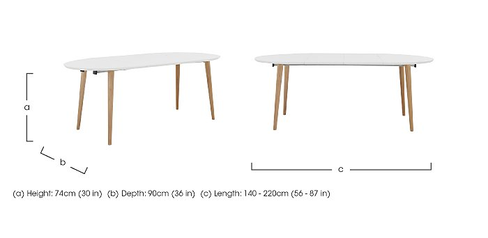 Espen Extending Oval Table 140/220cm in  on FV