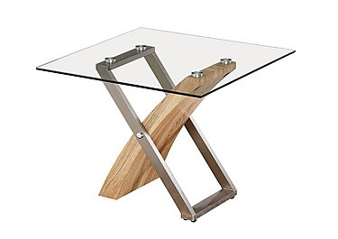 Evolution Glass Lamp Table in  on Furniture Village