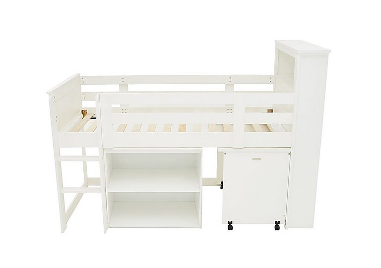 Explorer Mid Sleeper Bed with Desk and Bookcase in  on FV