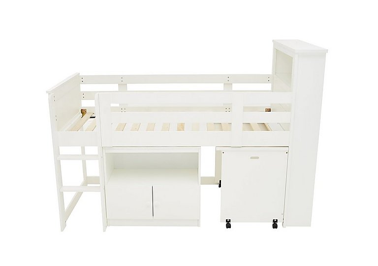 Explorer Mid Sleeper Bed with Desk and Cupboard