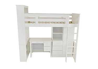 Explorer High Sleeper with Wardrobe and Desk in  on FV