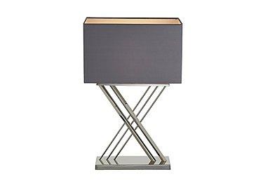 Farren Nickel Table Lamp in  on Furniture Village